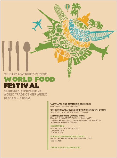 Food Festival Flyer Product Front