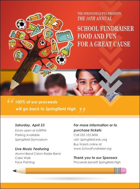 Fundraiser For Education Flyer