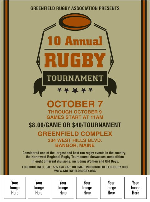 Rugby Tournament Image Flyer