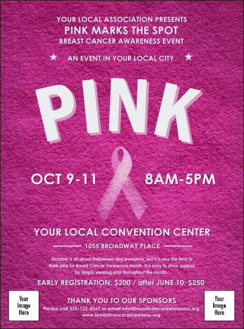 breast cancer pink ribbon flyer