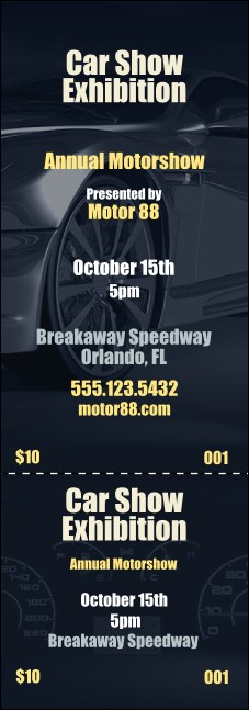 Car Show Speed Dial Event Ticket