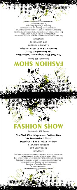 Fashion Show Table Tent