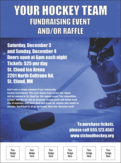 Hockey Flyer Product Front