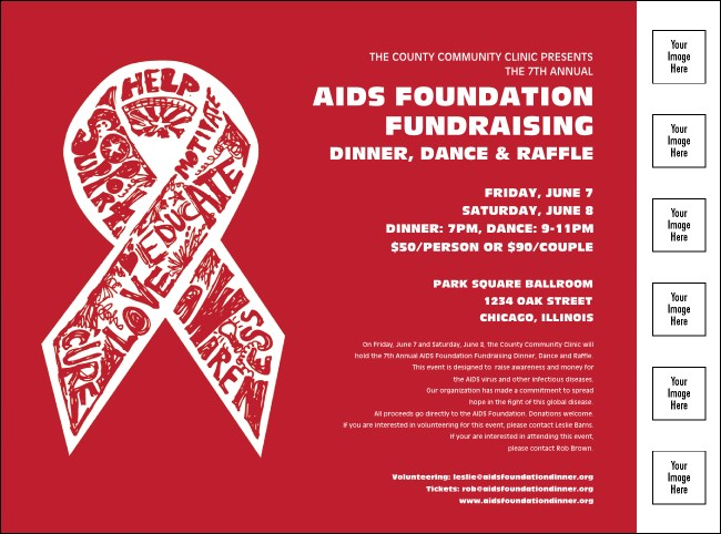 AIDS Fundraising Flyer with Image Upload