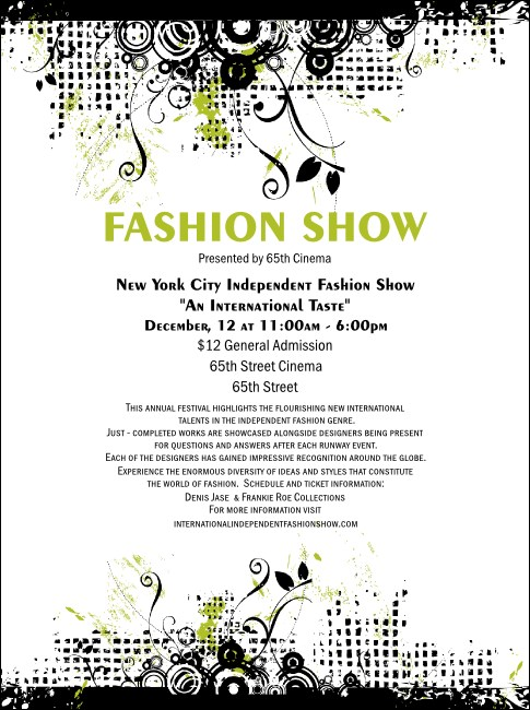 fashion show ticket template fashion show flyer