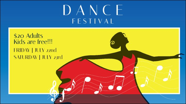 Dance Festival Facebook Event Cover