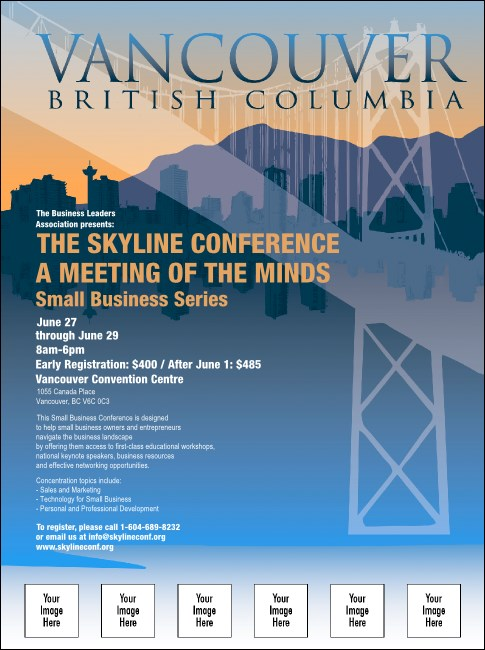 Vancouver BC Flyer with Image Upload