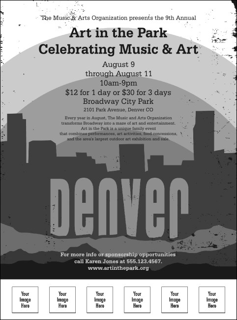 Denver Black and White Flyer