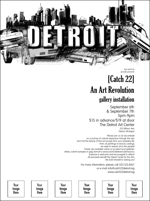 Detroit BW Flyer with Image Upload