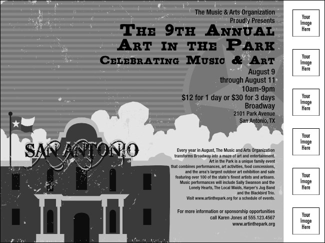 San Antonio Flyer (Black and white)