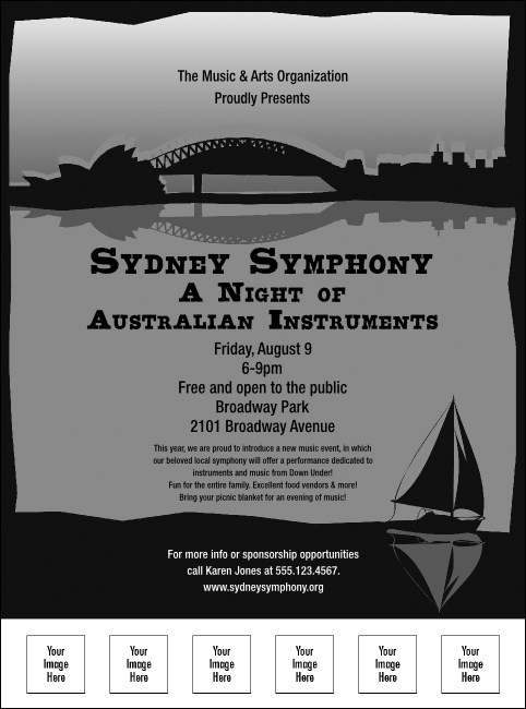 Sydney Flyer (Black and White) Product Front