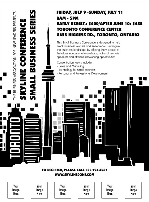 Toronto Flyer (Black & white)