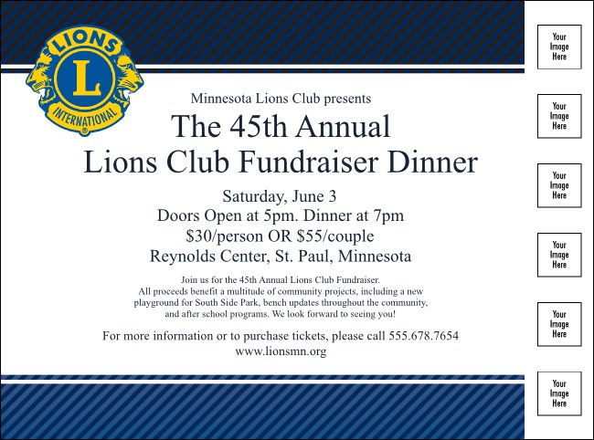 Lions Club Flyer Product Front