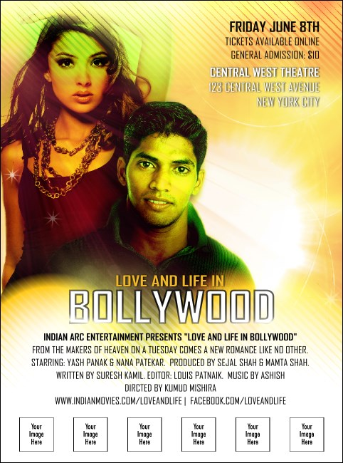 Bollywood Logo Flyer Product Front