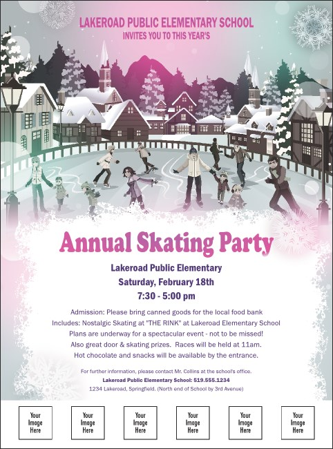 Skating Party Logo Flyer