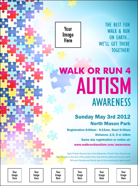 Autism Awareness Logo Flyer Product Front