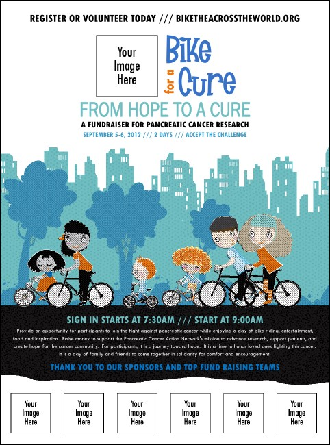 Bike for a Cause Logo Flyer