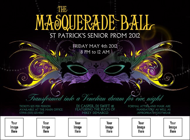 Masquerade Ball Logo Flyer Product Front