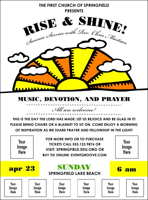 Sunrise Retro Logo Flyer