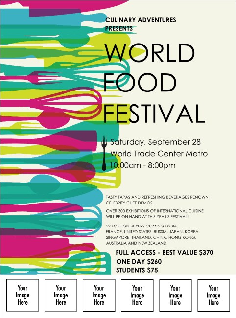 World Food Festival Logo Flyer Product Front