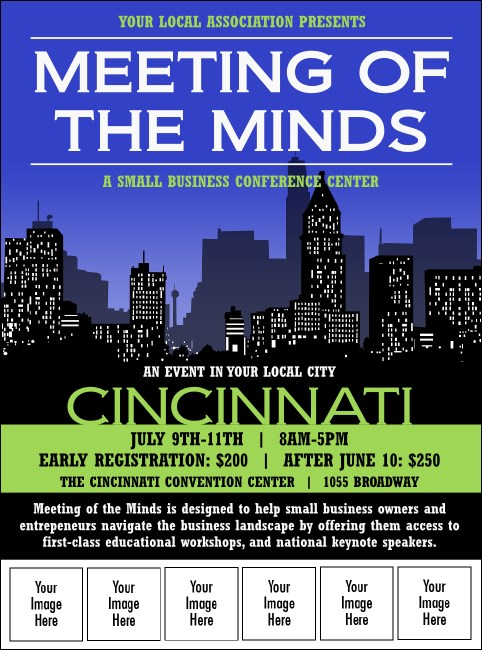 Cincinnati Skyline Logo Flyer