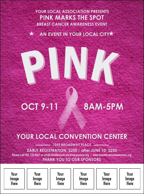 Breast Cancer Pink Ribbon Logo Flyer