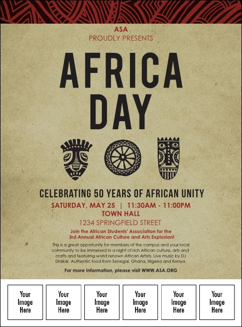 African Theme Logo Flyer