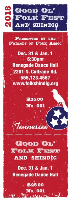 Tennessee General Admission Ticket