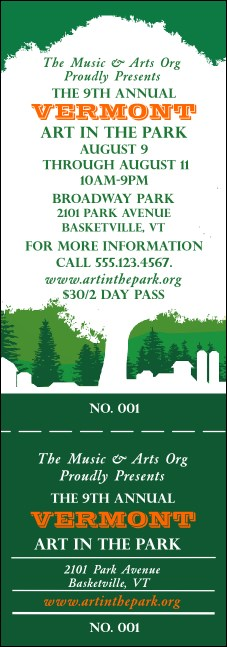 Vermont General Admission Ticket