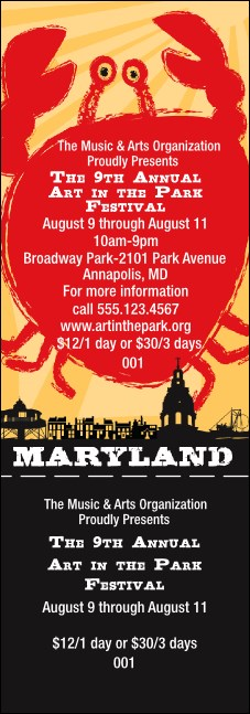 Maryland General Admission Ticket