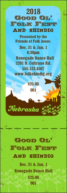 Nebraska General Admission Ticket