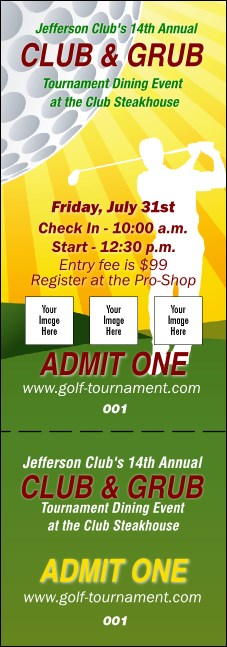 Golf Backswing Event Ticket