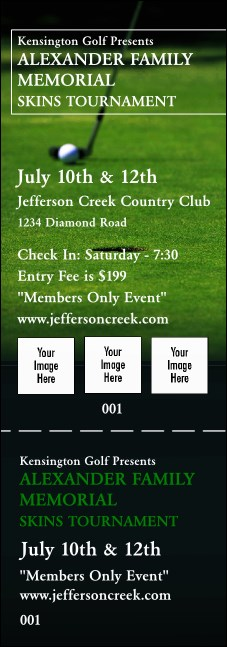 Golf Photo Event Ticket