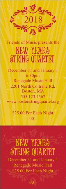 Year Gold Semi-Formal Event Ticket