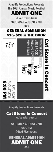 All Purpose Big Logo Event Ticket (Black & White)