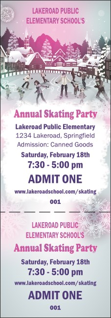 Skating Party Event Ticket
