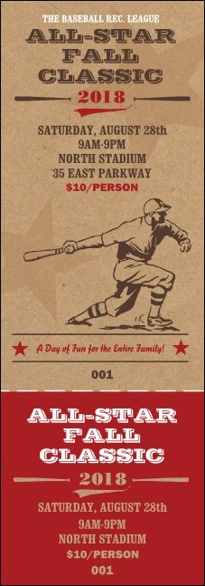All-Star Retro Baseball Event Ticket