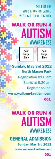 Autism Awareness Event Ticket