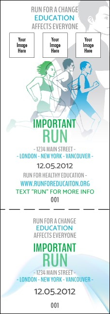Run for a Cause Blue & Green Event Ticket