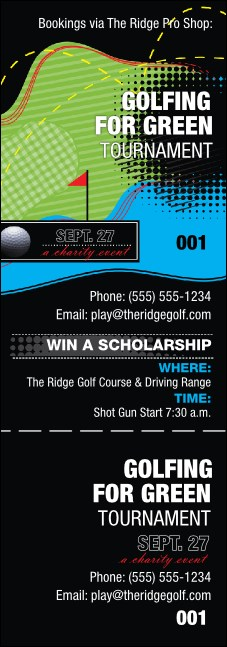 Golf Water Hazard Event Ticket