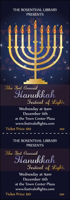 Hanukkah Menorah Event Ticket