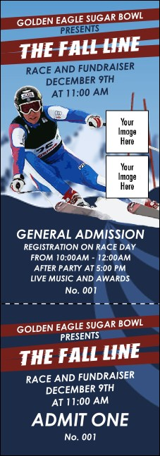 Ski Race Event Ticket