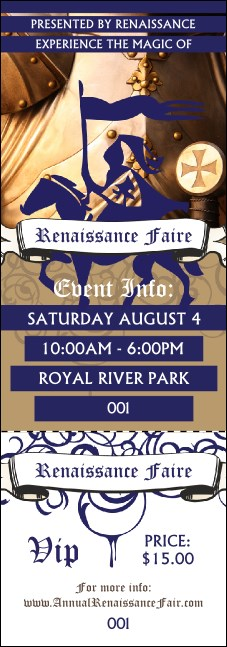 Renaissance Faire Armor Event Ticket