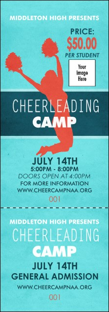 Cheerleading Jump Event Ticket