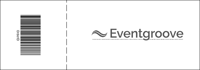 Graduation General Admission Ticket Black Product Back