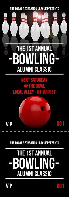 Bowling Classic Event Ticket