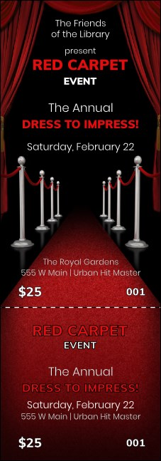 Red Carpet Event Ticket