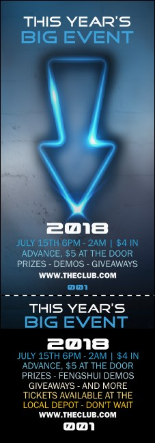 Night Club Neon Event Ticket