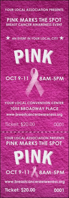 Breast Cancer Pink Ribbon Event Ticket