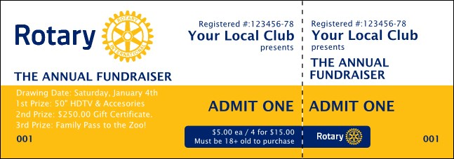 Rotary Club 2 Event Ticket Product Front